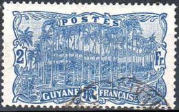 Guyane Poste Obl Yv: 64 Mi:64 Place Des Palmistes Cayenne (Beau Cachet Rond) - Used Stamps