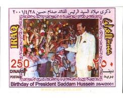 Ref. 88151 * MNH * - IRAQ. 2001. ANNIVERSARY OF PRESIDENT SADDAM . ANIVERSARIO DEL PRESIDENTE SADAM - Iraq