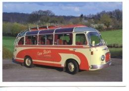 Lillebonne (76) Cars PERIER  (ed Zip Op) Transports Bus Autocar Car (salon Voyageurs Chantilly) Cp Vierge - Buses & Coaches