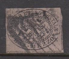 Roman States S 1 1852 Papal Arms Half Baj, Used - Papal States