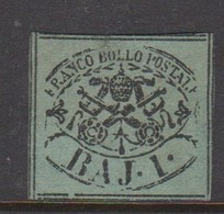 Roman States S 2 1852 Papal Arms 1 Baj, Mint - Kerkelijke Staten