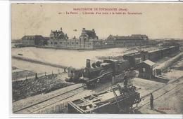 59 ZUYDCOOTE . Sanatorium , La Ferme, Arrivée D'un Train à La Halte , édit : Cayez Lille , écrite En 1912 , état Extra - Francia