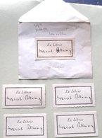 EX LIBRIS CELEBRES MARCEL ALLAIN FANTOMAS POLICIER LITTERATURE POPULAIRE 4 + 1 DOCUMENTS VERS 1930 - Bookplates