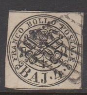Roman States S 5 1852 Papal Arms 4 Baj Grey Brown, Used - Papal States