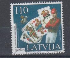 Latvia 1999 Mi 499 Used Playing Cards - Lettonie