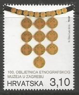 HR 2019-1355 100th A°ETNOGRPHIC MUSEUM, HRVATSKA CROATIA, 1 X 1v, MNH - Croazia