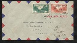 Liban Lettre Par Avion Beyrouth Le 16/03/1950 Pour Lyon Les Postes Aérienne N°21  Et 22  B/TB - Liban