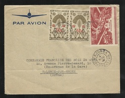 Madagascar Lettre Par Avion Majunga  Le 04/11/1945 Pour Valence  N°290 Paire Et PA N° 65    B/TB - Madagascar (1889-1960)