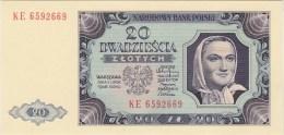 POLAND 1948 20 Zl KE 6592669 Uncirculated - Poland
