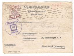 17758 - ENTRAIDE  PAQUES 1944 - Marcophilie (Lettres)