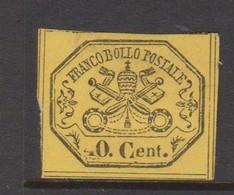 Roman States S 19 1867 Papal Arms 40c Yellow, Mint No Gum - Papal States
