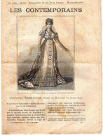 Hebdomadaire Les Contemporains N°571-20-09-1903-l'impératrice Marie-Louise, Femme De Napoléon 1 Er (1791-1847) - Newspapers