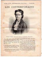 Hebdomadaire Les Contemporains N°754-24-03-1907-madame Anaïs Ségalas,poète Et Romancier ( 1814-1893 ) - Newspapers
