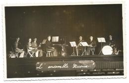 """FORMAT CPA - L'ENSEMBLE MUSICA"""" - ORCHESTRE -CONTREBASSE -VIOLONS - PIANO -SAXO - TROMPETTE - BATTERIE - Métiers"""