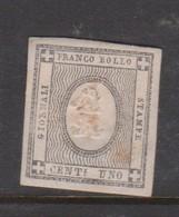 Sardinia S 19  1861 Newspaper Stamp 1c, Mint Hinged - Sardinia