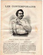 Hebdomadaire Les Contemporains - Honoré De Balzac , Romancier (1799-1850). - Newspapers