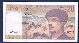 20 FRANCS DEBUSSY Fayette N° 66 Bis.1 De 1990 N° W.027 307087 état SUP - 1962-1997 ''Francs''