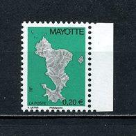 ... RARE... MAYOTTE 2004 N° 160A ** Cote MICHEL 300 € Neuf MNH LUXE Carte De L'île Philaposte - Unused Stamps