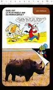 Humour Oiseau Pique-boeuf Et Le Rhinocéros / Animal Rhino D37 - Old Paper