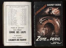 Espionnage Fleuve Noir 42 Sidney Borg Zone De Péril 1954 Port Fr 3,44 € - Old (before 1960)