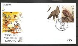 KOSOVO 2019,EUROPA CEPT,NATIONAL BIRDS,,FDC - Kosovo