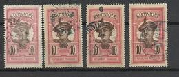 Martinique N° 65  X4  Nuances De Couleurs Oblitérés  B/ TB - Martinique (1886-1947)