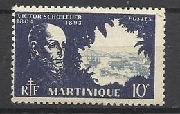 Martinique N° 199  Victor Schoelcher Neuf * *  TB = MNH VF  Soldé    ! ! ! - Martinique (1886-1947)