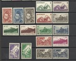 Martinique N° 226  à  243   Neufs * * TB   = MNH VF  Soldé  à Moins De  20 %   ! ! ! - Martinique (1886-1947)