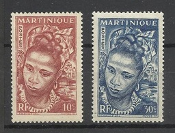 Martinique N° 226  Et 227  Costumes Et Coiffures    Neufs * * TB   = MNH VF  Soldé     ! ! ! - Costumes