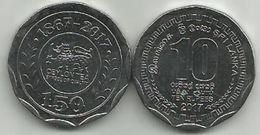 Sri Lanka 10 Rupees 2017. UNC CEYLON TEA 150th ANNIVERSARY - Sri Lanka