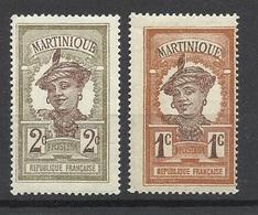 Martinique N° 61  Et 62  Costumes Et Coiffures    Neufs * */ * B/ TB     Soldé     ! ! ! - Costumes