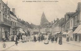AUBIGNY VILLE Rue Du Prieuré Et Eglise - Aubigny Sur Nere