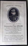 MEMORANDUM  MILITAIRE FAIRE PART MORTUAIRE COMMANDANT RENE BENARD TUE EN 1914 - 1901-1940