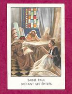 IMAGE PIEUSE...SAINT PAUL Dictant Ses Epitres...2 Scans - Devotion Images