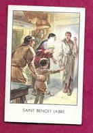 IMAGE PIEUSE...SAINT BENOIT LABRE...2 Scans - Devotion Images