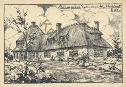 Epe - Schaapskooi Bij Heidebad - Pentekening  [4A-0.615 - Epe