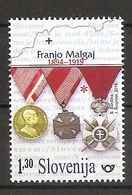 SLOVENIA 2019,ANNIVERSARIES,FRANJO MAGLAJ S MEDALS,WW1,MNH - Slovenia