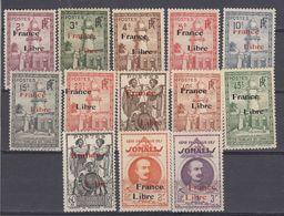 COTE DES SOMALIS TIMBRES FRANCE LIBRE............................NEUFS++/+ - French Somali Coast (1894-1967)