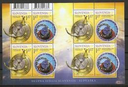 SLOVENIA 2019,SUNDIAL,ASTRONOMICAL CLOCK,SONNEN UHR,JOINT ISSUSE SLOVENIA-SLOVAKIA,SHEET,MNH - Astrologie