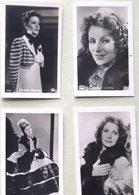 GRETA GARBO 4 PHOTOGRAPHIES DE FILM DIFFERENTES  7 X 5 CM - Célébrités