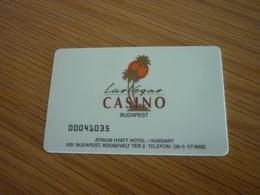Hungary Budapest Atrium Hyatt Hotel Las Vegas Casino Magnetic Player's Member Slot Card - Casinokarten