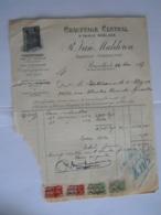 1937 R. Van Malderen Bruxelles Chauffage Central Facture Eloy Bruxelles Taxe 9 Fr Abimée, Beschadigd - Électricité & Gaz