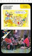 Humour Ethnologie Jeu Caillou Sur Le Dos D'un Rhinocéros Afrique Enfants Masaïs Au Kenya Animal D37 - Old Paper