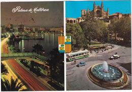 Palma De Mallorca - 'PHILIPS' AUTOBUS/COACH, FIAT-SEAT 600, SEAT 1500 TAXI - Paseo Maritimo -  (Espana/Spain) - Toerisme