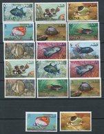 1965-QATAR-FISHES-POISSONS- 17 VAL. M.N.H.-LUXE ! - Qatar