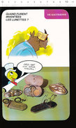 Humour Invention Des Lunettes Lunetterie Opticien Paire De Lunettes Anciennes Béricles Animal Rhinocéros D37 - Old Paper