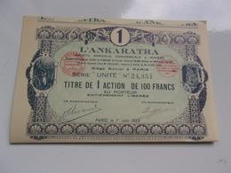 L'ANKARATRA Société Agricole,commerciale & Minière (1923) - Shareholdings