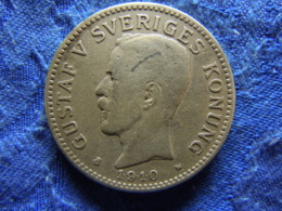 SWEDEN 2 KRONOR 1910, KM787 - Sweden
