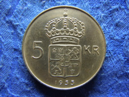 SWEDEN 5 KRONOR 1955 POS. B, KM829 - Sweden
