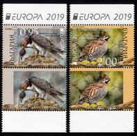 "BULGARIA/Bulgarien EUROPA 2019 ""National Birds"" Set 2v & Label** - 2019"